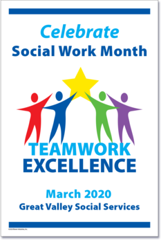 9203 - Customized Social Work Month Poster, set of 10