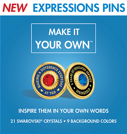 Give Personalized Expression Pins.