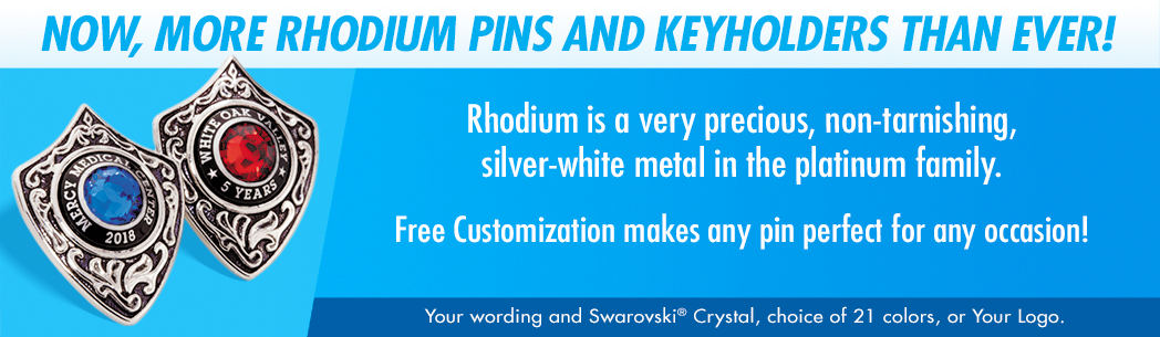 Rhodium Pins and Keyholders
