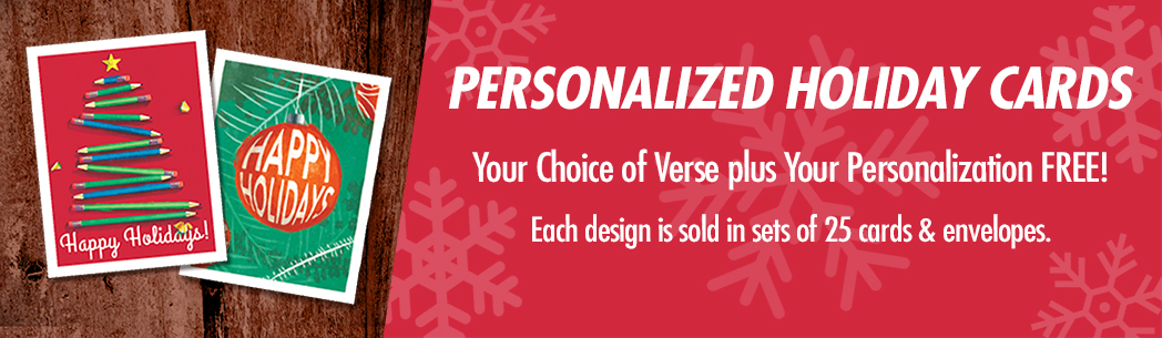 Give Personalized Holiday Greeting Cards.