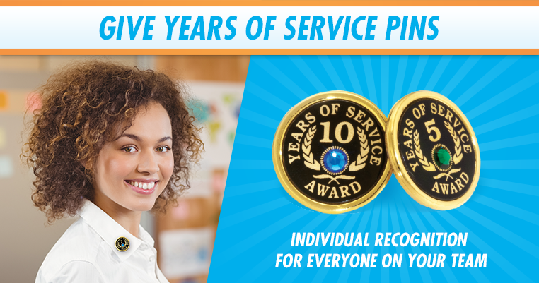 Years of Service Pin