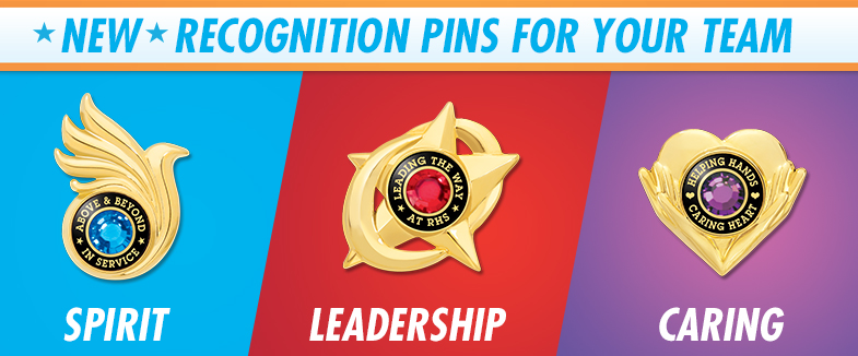 Recognition Pins. New Recognition Pins!.
