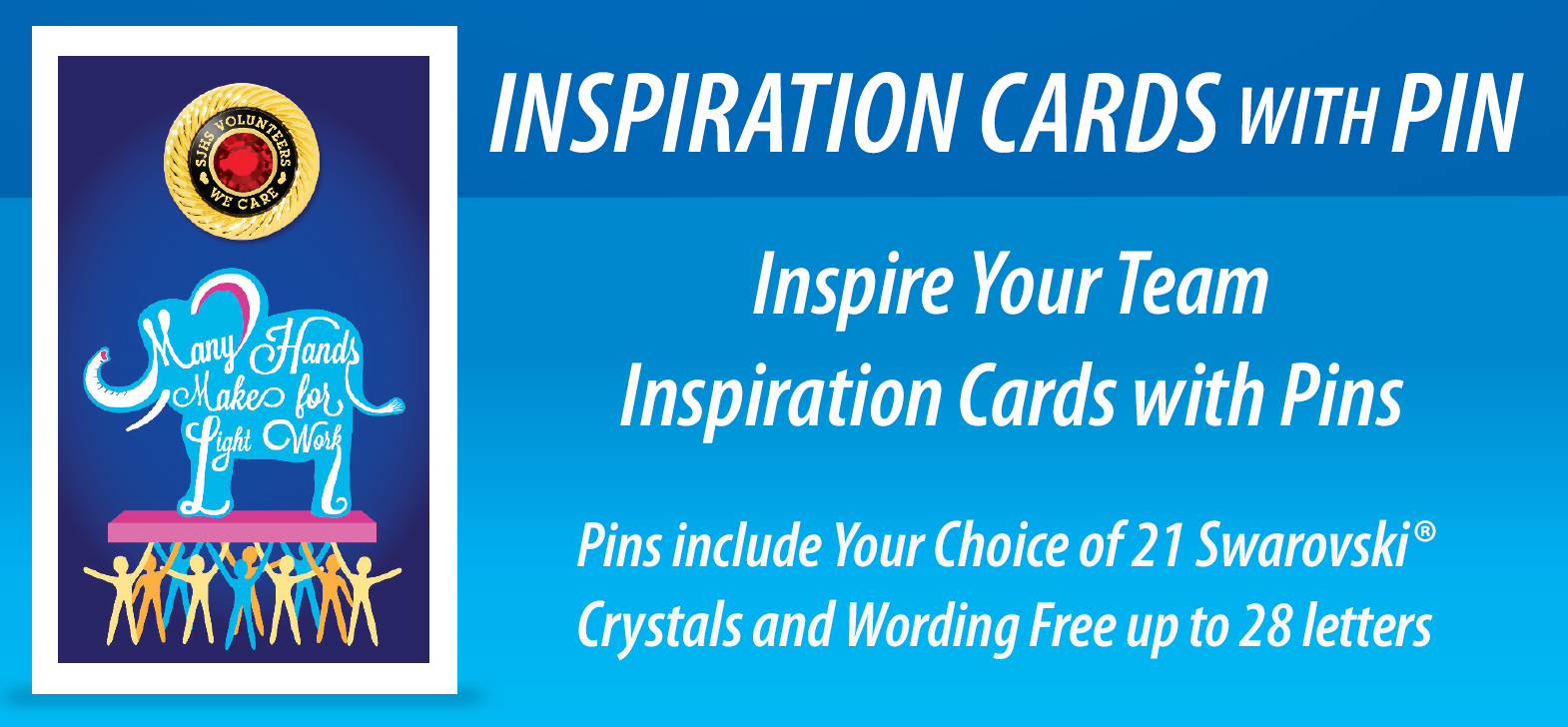Inspiration Pins and Cards. Give Customized Inspiration Pins and Cards.