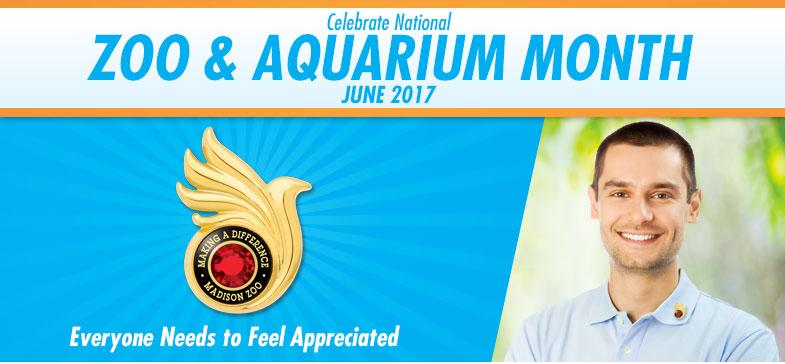 Celebrate National Zoo and Aquarium Month - June 2017