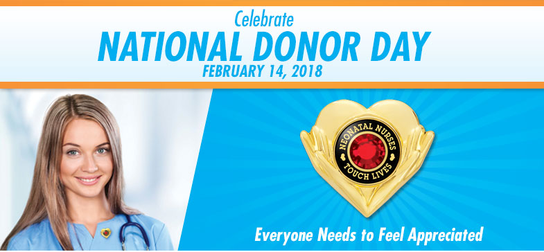 Celebrate National Donor Day - February 14, 2017