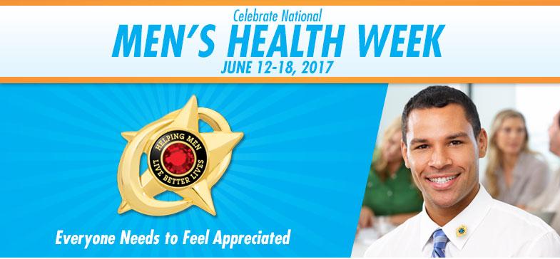 Celebrate National Men's Health Week - June 12-18, 2017