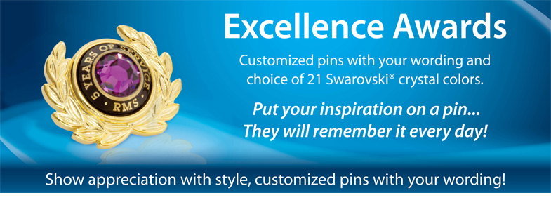 Give Pins, Plaques And More To Motivate And Inspire Your Team.  Excellence Award Wording
