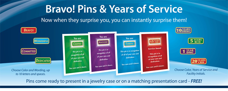 Bravo Pins come ready to present in a jewelry case or on a matching presentation card - FREE!