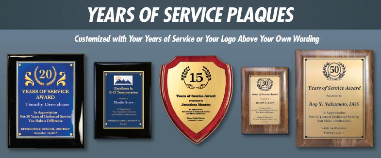 Present Years Of Service Plaques Brown Originals